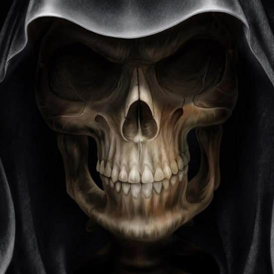 Hooded Skeleton - iPad Wallpaper