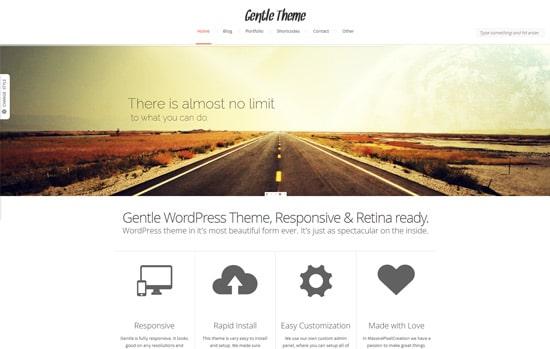 Gentle Responsive Portfolio WP Theme Retina Ready