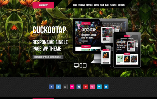 CuckooTap - Responsive Single Page WordPress Theme