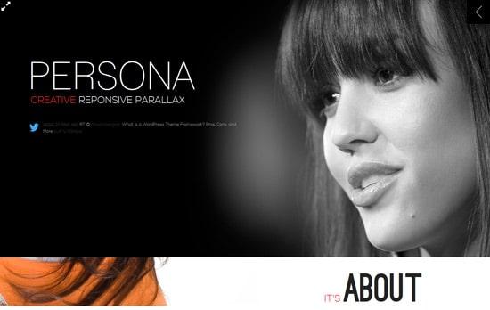 Persona - WordPress Responsive Creative Parallax
