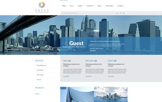 Novus Multipurpose Corporate WordPress Theme