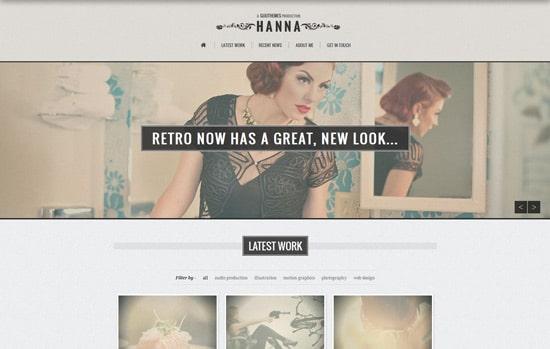 Hanna - Responsive Retro WordPress Theme