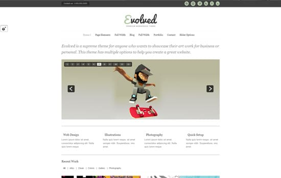 Evolved - Flexible Responsive WordPress Theme