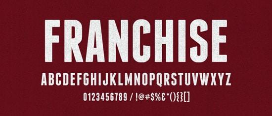 Franchise Font