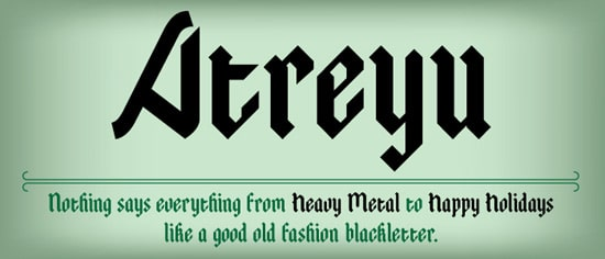 Atreyu Font