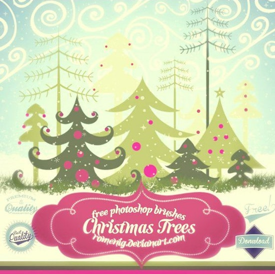 Free Christmas Tree Brushes Set