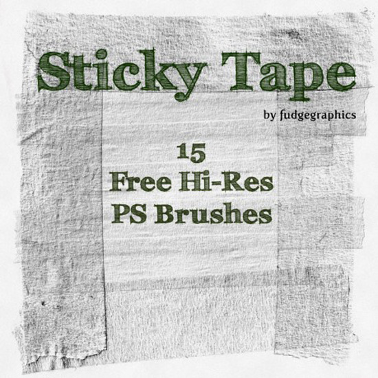 Sticky Tape: Free Hi-Res Photoshop Brushes + Textures