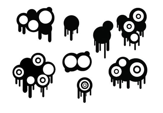 Circles And Drips Vector & Brush Set