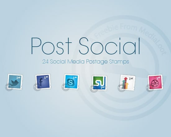 Social Postage Stamps