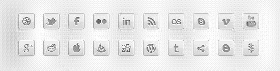 MonoLove – Monochrome Social Icons