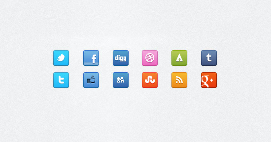 32x32px Social Icons (PNG)