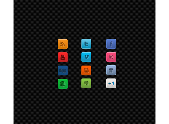 A Clean Mini Social Media Icon Set