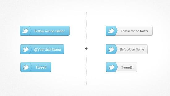 Follow Me On Twitter Buttons