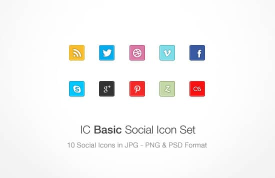 IC Basic Social Icon Set