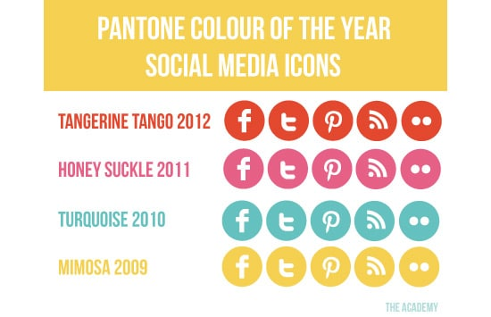Pantone Colour of the Year Social Media Icons
