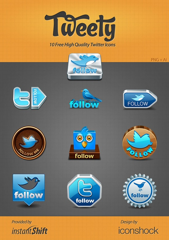 Tweety - 10 Free High Quality Twitter Icons