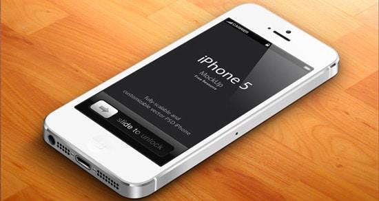 3D iPhone 5 Psd Vector Mockup v2