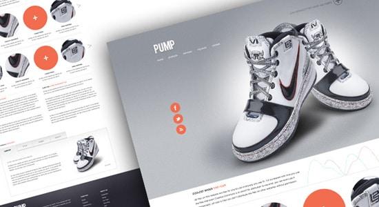 Pump - A free website psd template