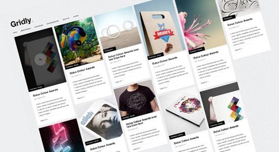 Gridly - Free PSD Blog Website