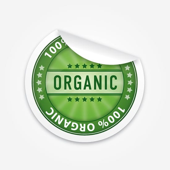 Organic Sticker Vector Graphic