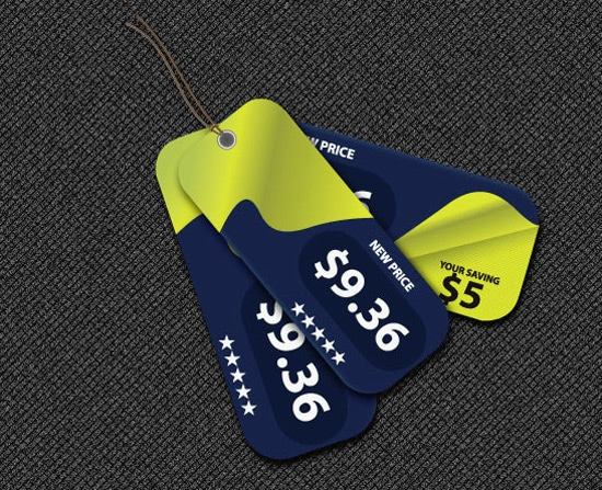 Vector Price Tags