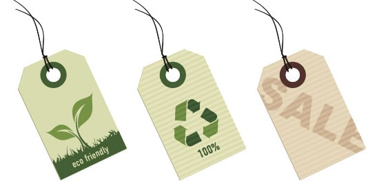 Eco tags Vector Graphic