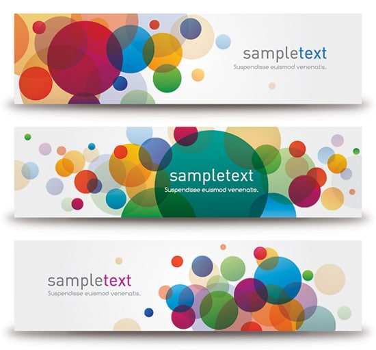 Bubbly Banners Vector Graphic