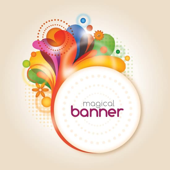 Magical Banner - Vector Graphic by DryIcons
