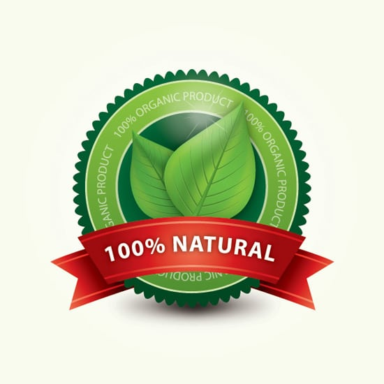 Organic Label Vector Graphic