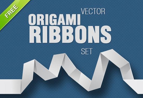Free Vector Origami Ribbons
