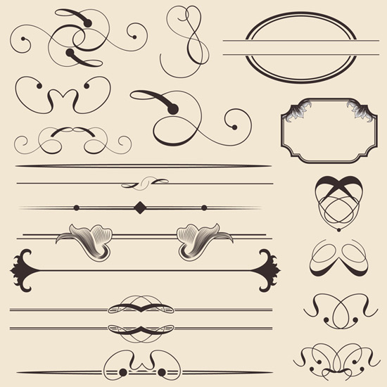 Vintage Calligraphic Decorations