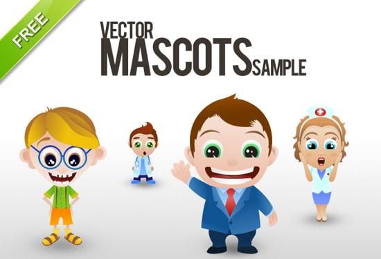 Free vector mascots