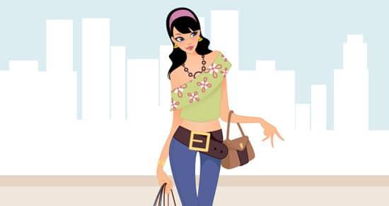Fashion Shopping Girls Vector Art | Vector Illustrations