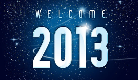 Welcome 2013 new year :: Vector Open Stock