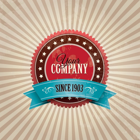 Vintage Company Badge Vector Graphic