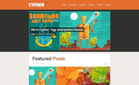 Cypher - WordPress Magazine / Portfolio Theme