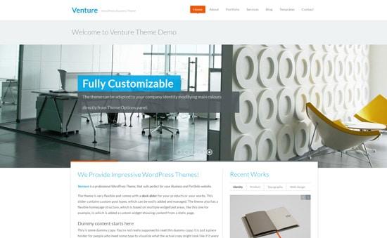 Venture - Business & Portfolio WordPress Theme