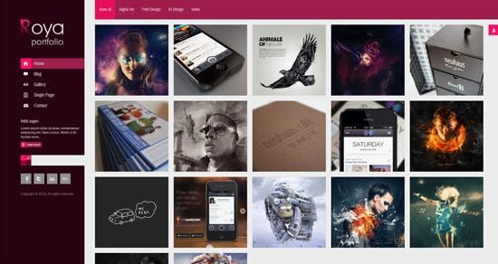 Roya - Responsive AJAX Portfolio WordPress Theme