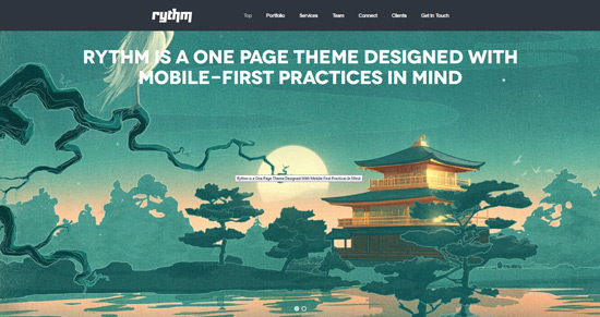 Rythm - One Page Responsive WordPress Theme