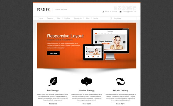 Paralex - Multi-Purpose Responsive WP Theme