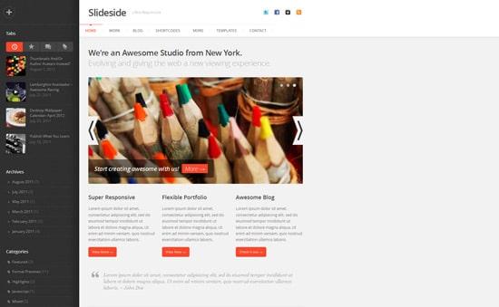 Slideside - Responsive Multi-Purpose Theme