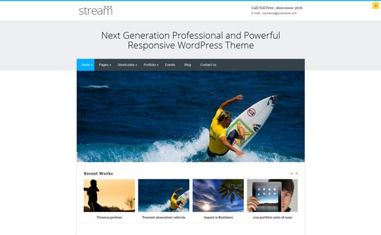 Stream | Responsive Multi-Purpose WordPress Theme