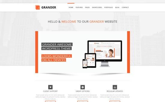 GRANDER - Responsive Multipurpose WordPress Theme