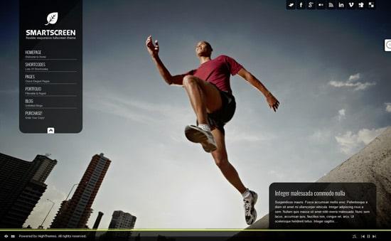 SmartScreen fullscreen responsive WordPress theme