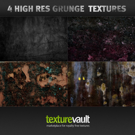 Freebie Pack – 4 Free High Resolution Grunge Textures