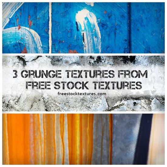 3 Grunge Textures from FreeStockTextures.com
