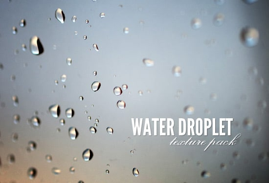 Free Water Droplet Textures