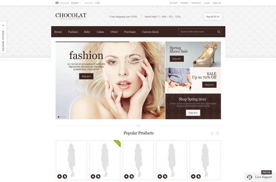Chocolate - Flexible Magento Theme