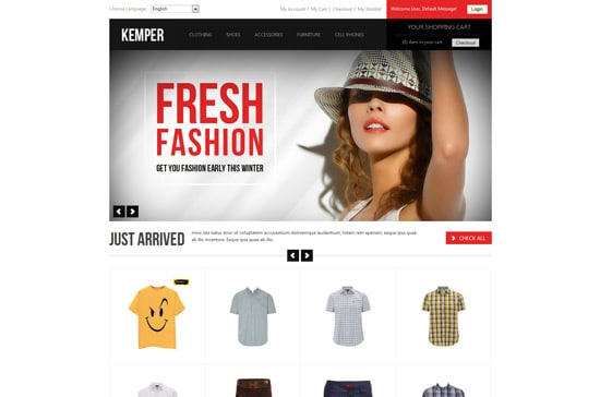 Kemper | Clean Responsive Magento Theme