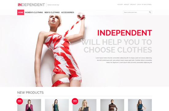 Independent - Responsive Magento Theme